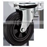 Garbage Bin Casters with black Rubber Wheels