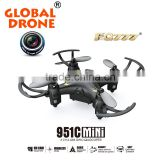 0.3MP ABS MODE2 mini camera selfie drone FQ777-951C racing drone