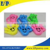 Colorful cheerleading cartoon plastic whistle toy 6pcs