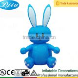 Inflatable Happy Easter Blue Rabbit for Indoor and Outdoor Party Decoration