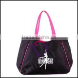 R3023 Wholesale waterproof silk dance bags with dance logo,wholesale ballet dance shoes bags for competition