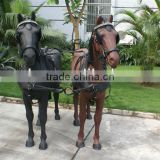 Western saddle Horse harness for two horse