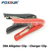 Foxsur good price Mini electrical Alligator clip / Crocodile clip / Car booster cable clamps battery clamps