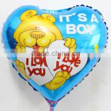 18inch heart shape lovely bear helium foil balloons for baby birthday /wedding party supplies