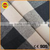 plaid brushed CVC yarn dyed shirting fabric