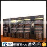 China supplier boutique wood whisky display cabinet