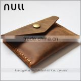 Top quality antique style crazy horse business card holder designer mens metal clasps leather men wallet
