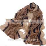 Fashion Wrap Stripe Printed cotton Scarf Shawl Neckerchief Ripple Printed Muffler Cappar for Girls Ladies