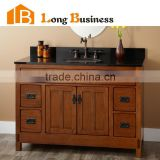 LB-LX2023 Cheap antique solid wood bathroom corner cabinet storage, stainless steel bathroom cabinet