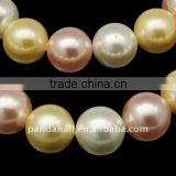 Shell Pearl Polished Beads Strands(BSHE-Q004-2)