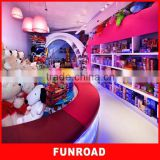 2015 Cute Plywood Baking Paint Toy Store Showcase Decoration With Different Color for hot sale
