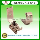 Industrial Sewing Machine Parts Sewing Accessories Brassiere Feet W/Guide Double Needle S570SL-1/4-1/16 Presser Feet