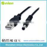 2FT USB 2.0 Type A Male to 3.5mm Audio Barrel Connector Jack 5V DC Power Cable