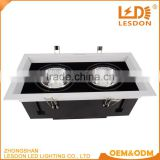 Aluminum lamp body material and led light source square recessed spot lights replace metal halogen lamp