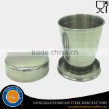 Promotional collapsible measuring cups 2OZ stainless steel collapsible cup