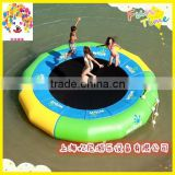 Summer sea side party game inflatable water trampolines