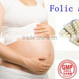 New Arrival GMP OEM factory supply100% natural Folic Acid Tablets Powder, folic acid feed grade,Vitamin B9,good for women