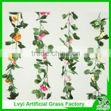 Hot selling artificial rose vines decorative artificial flower vines for wedding decoration
