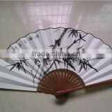Chinese Bamboo Folding Paper Hand Fan Big Bamboo Paper Fan