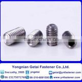 Hexagon Socket Head Set Screw with dog /flat/cone/ cup point DIN 916/912 Zinc Plated/Black/Plain
