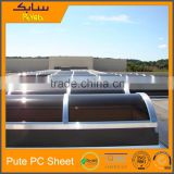 flexible heat and weather resistant bronze twin wall polycarbonate sheet skylight