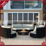 Patio furniture wholesale chic 3 curved loveseats rattan modern sofa set
