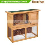 Small Wooden Animal House 2-Story Rabbit Hutch Poultry Cage