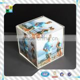 Clear acrylic plexiglass picture tiny frame 5x7 fashion design/2015modern design acrylic cube frame with high quality from China