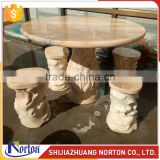 Costomize new design four seater marble bench and dining table NTS-B001LI