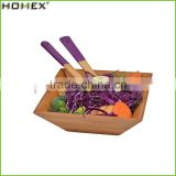 Best Selling Eco-friendly Square Bamboo Salad Bowl/Homex_Factory