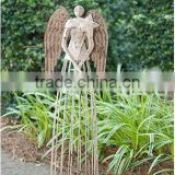 Attraction Design Antiqued Metal Garden Angel Yard Lawn Flowerbed Outdoor Decor Angel Status