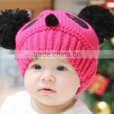 latest design woollen yarn babies hat warming baby girls hat christmas hat