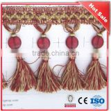 Hot sale beaded decorative curtain tassels, tiebacks for curtains