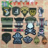 2017 hot sale Cartoon Patch Skulls Punk Style Clothes Patch Post Computer Embroidery Decorative Iron Back Glue Stick