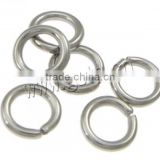 New Machine Cut Stainless Steel Jump Ring 304 Stainless Steel original un color 9x0.7mm jump rings