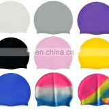 Promotional giftmake design your own funny adult flag custom silicone swim swimming cap SC001