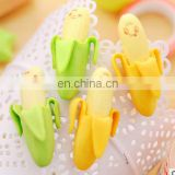 Creative Cute Banana Fruit Pencil Eraser Novelty Kids Student Learning Office Stationery