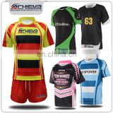 Custom make rugby league jersey sets, factory wholesale polyester rugby jersey