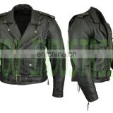 NEW MENS BROWN MOTORCYCLE LEATHER JACKETS