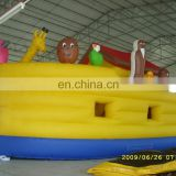 Inflatable with slide bouncer inflatable amusing animal boat jumper combo