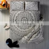 Indian 2017 Black Ombre Mandala Bed sheet Duvet Cover With 2 Pillow Cover full Set Queen Size Bedding Set Bed Decor