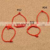 Chinese Knot Red Thread String Bracelet Thick Rope Bangle Cuff Traditional