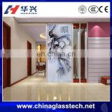 Customized Beautiful Picture Decorative Tempered Glass Partition
