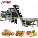 Factory Processing Line Automatic Apricot Kernel Cracking Machine Almond Cracker Black Walnut Shelling Machine