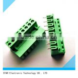 China factory custom 8 pin 90 degree 5.08mm pitch pcb terminal block