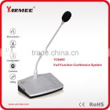 5 buttons voting wires microphone equipments for conference room
