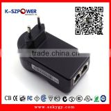 2016 P-series 12Wmax K-180700 Desktop PoE Power Adapter 18V1A PoE Power Supply/24V 1A PoE Power Adapter