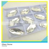 Top quality Glass Material Bling Bling Horse Eye Stone 2 Holes Sew on luxurious Garment