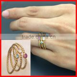 factory OEM 925 sterling silver birthstone rope chain style simple gold ring designs