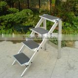 High Quality aluminum folding step ladder / emergency foldable ladder